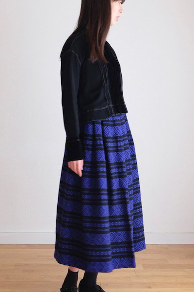 Midwinter wool jacquard skirt