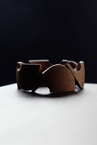 Wooden bangle from Czechoslovakia