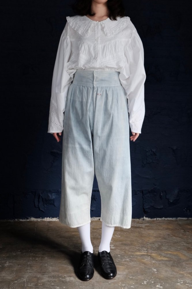 Cotton sarrouel pants with initial letters