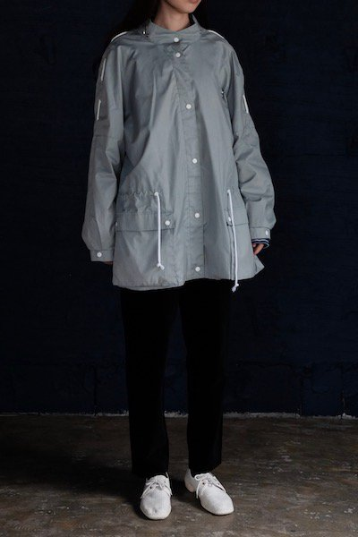 Dusty blue windbreaker jacket