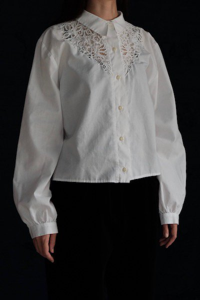 Vintage Hungarian floral cutwork blouse