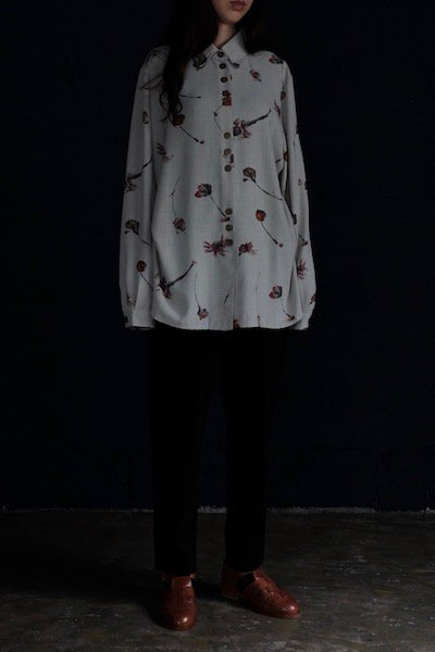 Three by three buttons oversized shirt