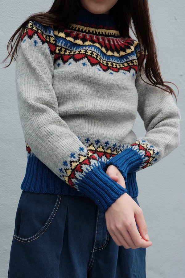 Nordic sweater with multi colours