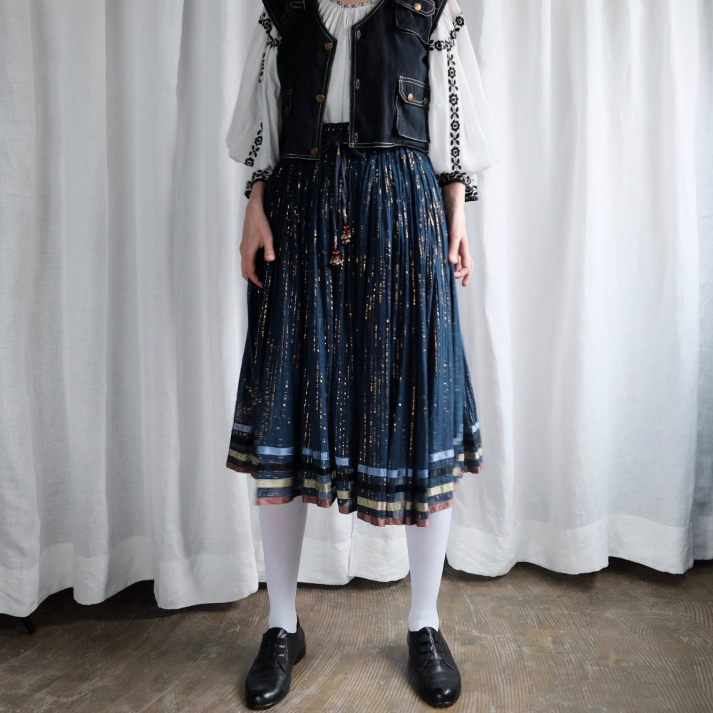 [VINTAGE] Twinkle Stripe Indian Cotton Skirt