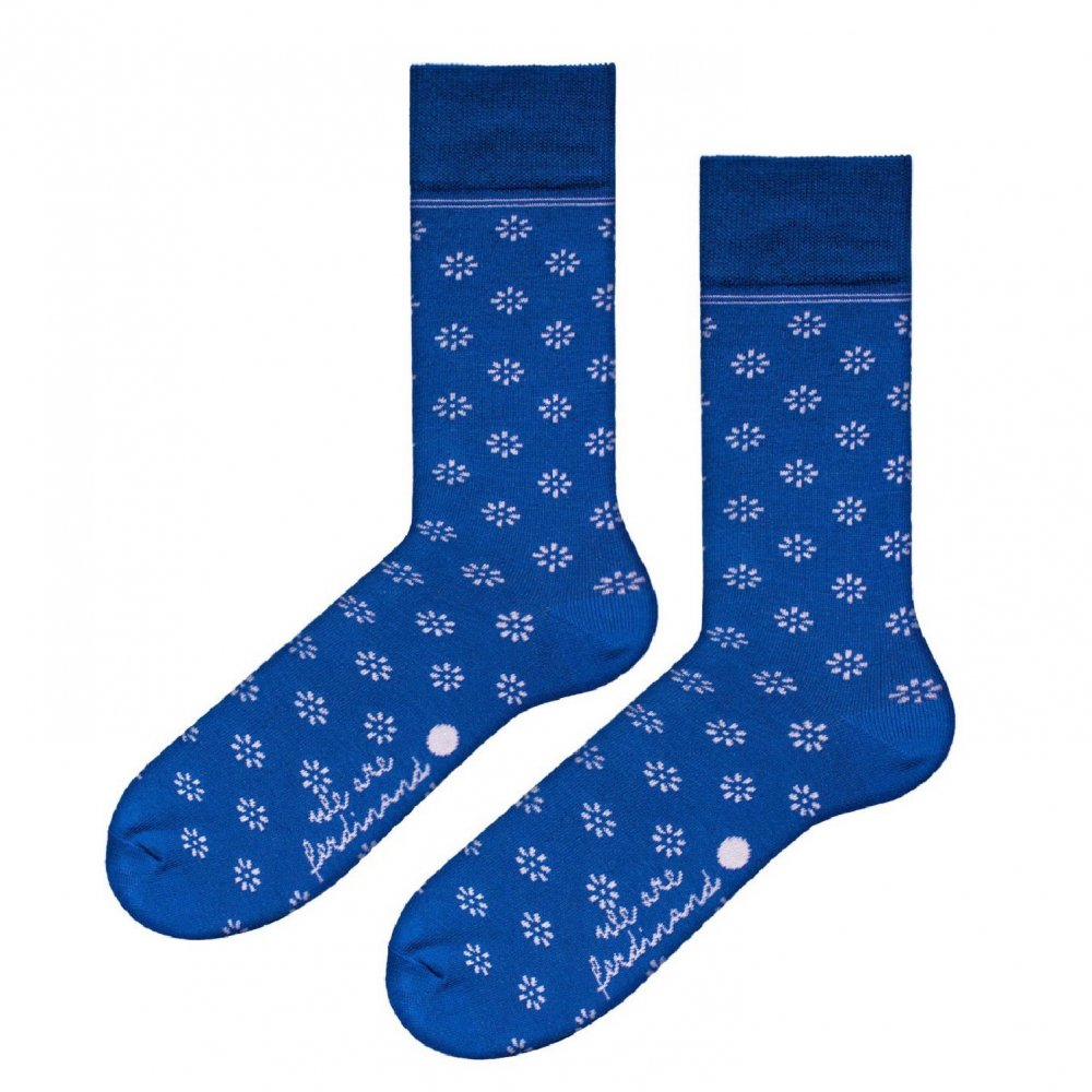 Wallachia Blue Socks by we are ferdinand