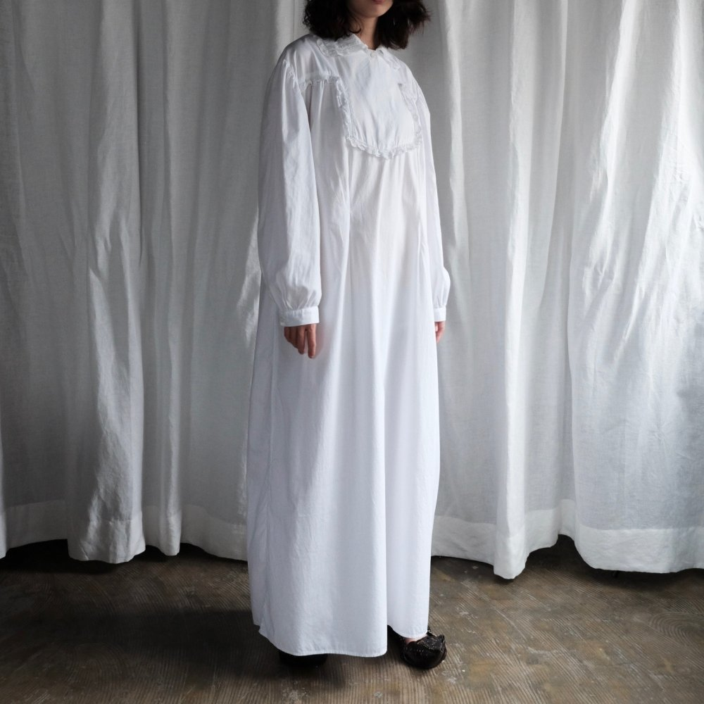 [VINTAGE] Milk White Maxi Long Dress