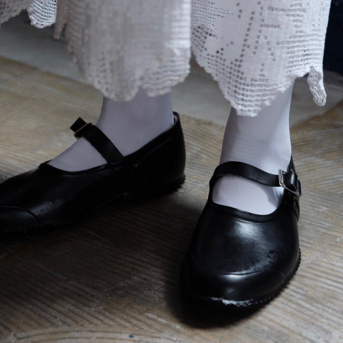 Strap Rubber Shoes BLACK by OPANAK