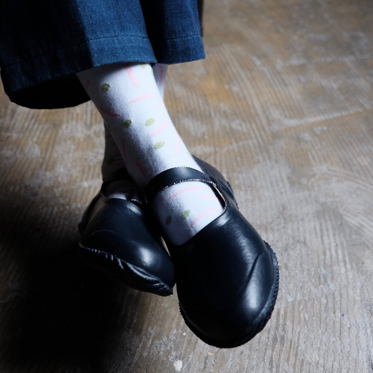 Strap Rubber Shoes NAVY by OPANAK