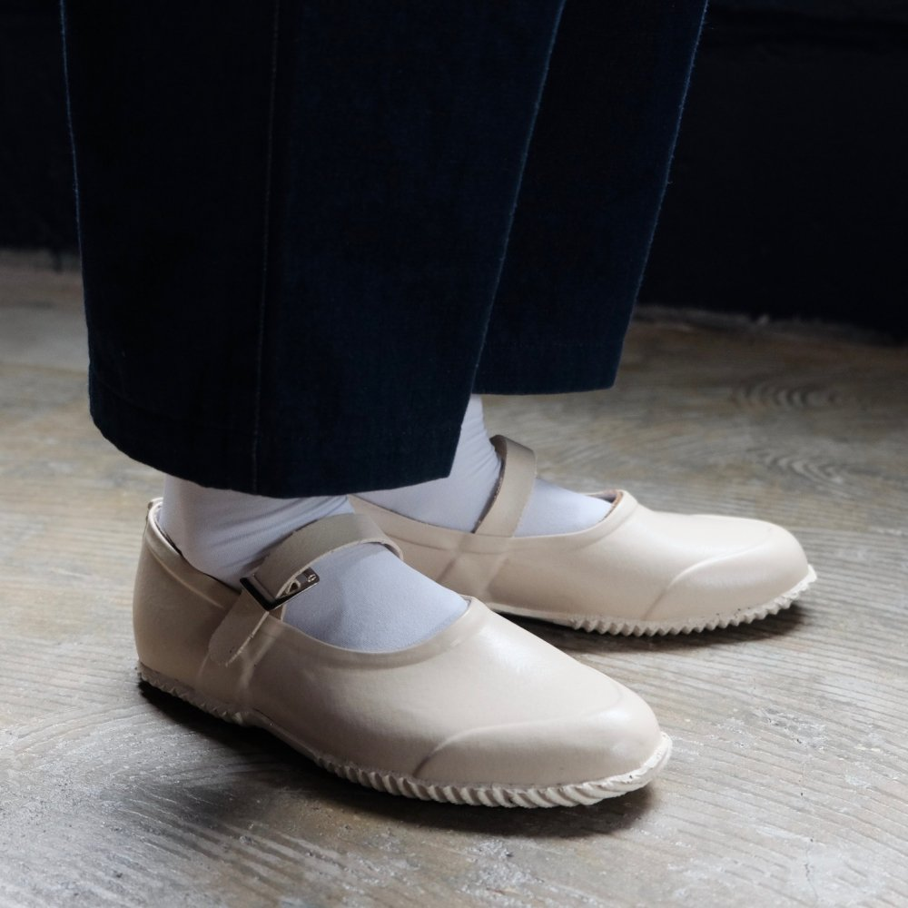 Strap Rubber Shoes IVORY by OPANAK