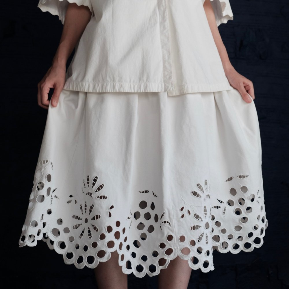 [VINTAGE] Romanian Floral Cutwork Skirt