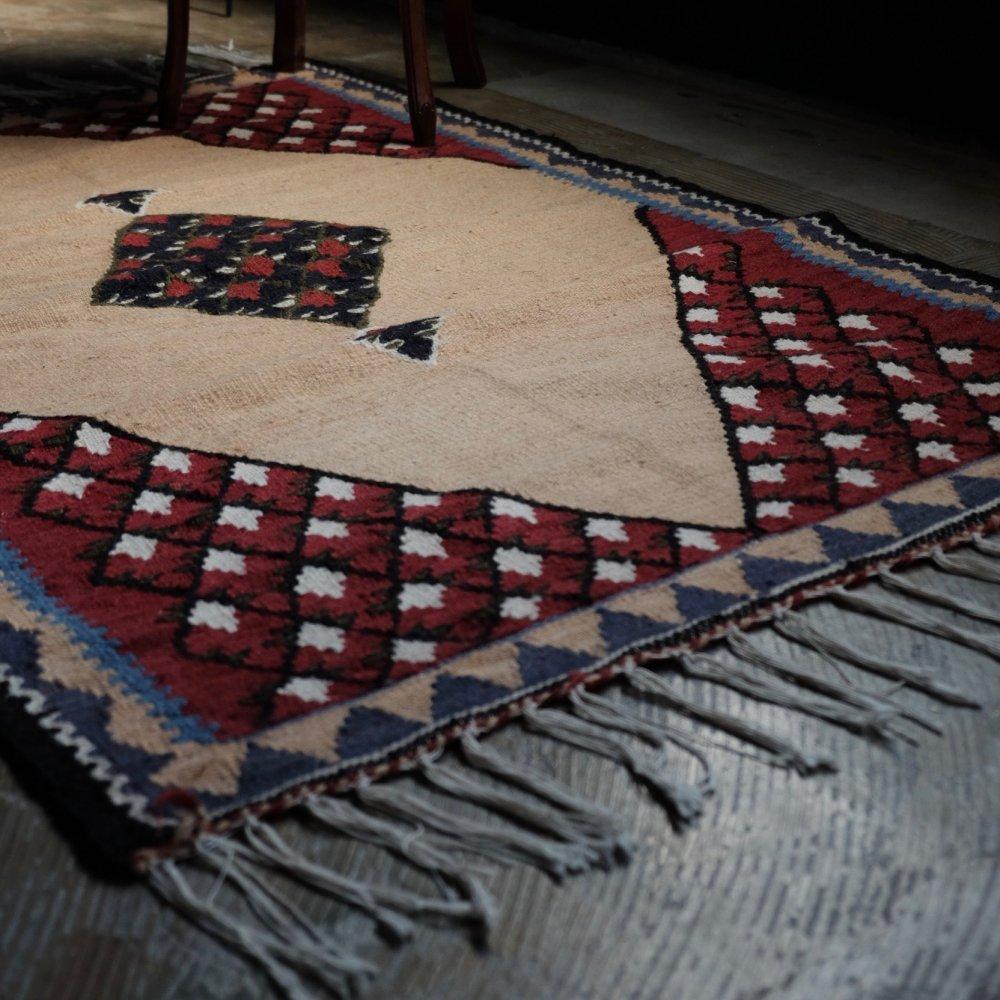 [VINTAGE] Caucasian Kilim Rug Made in Halkalaki, Georgia