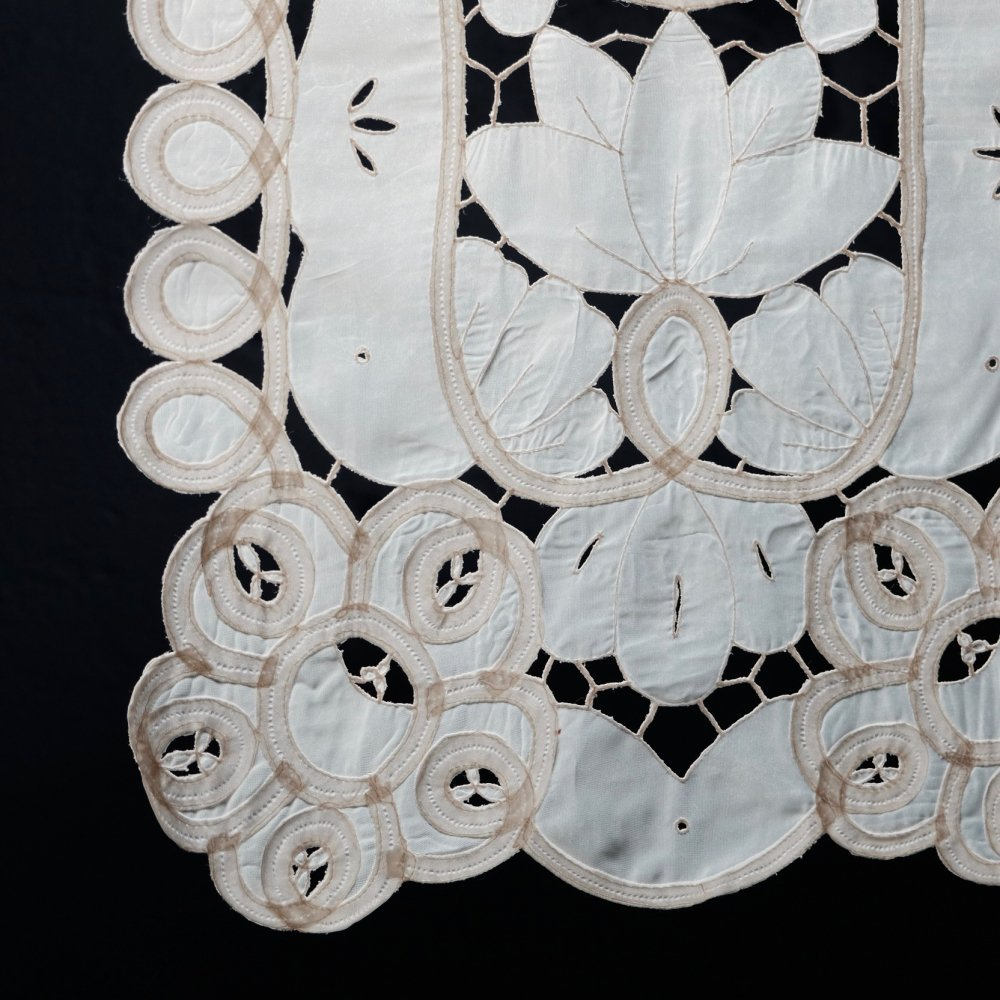 [VINTAGE] Hungarian Floral Cutwork Tapestry Cloth