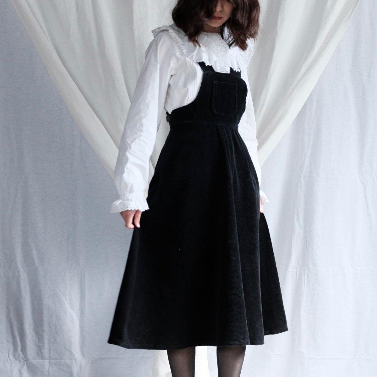 [VINTAGE] Little Black Pinafore Dress