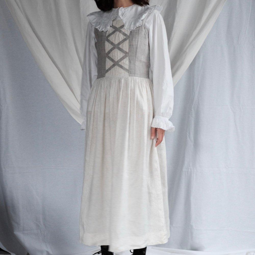 [VINTAGE] Linen Prairie Dirndl Dress