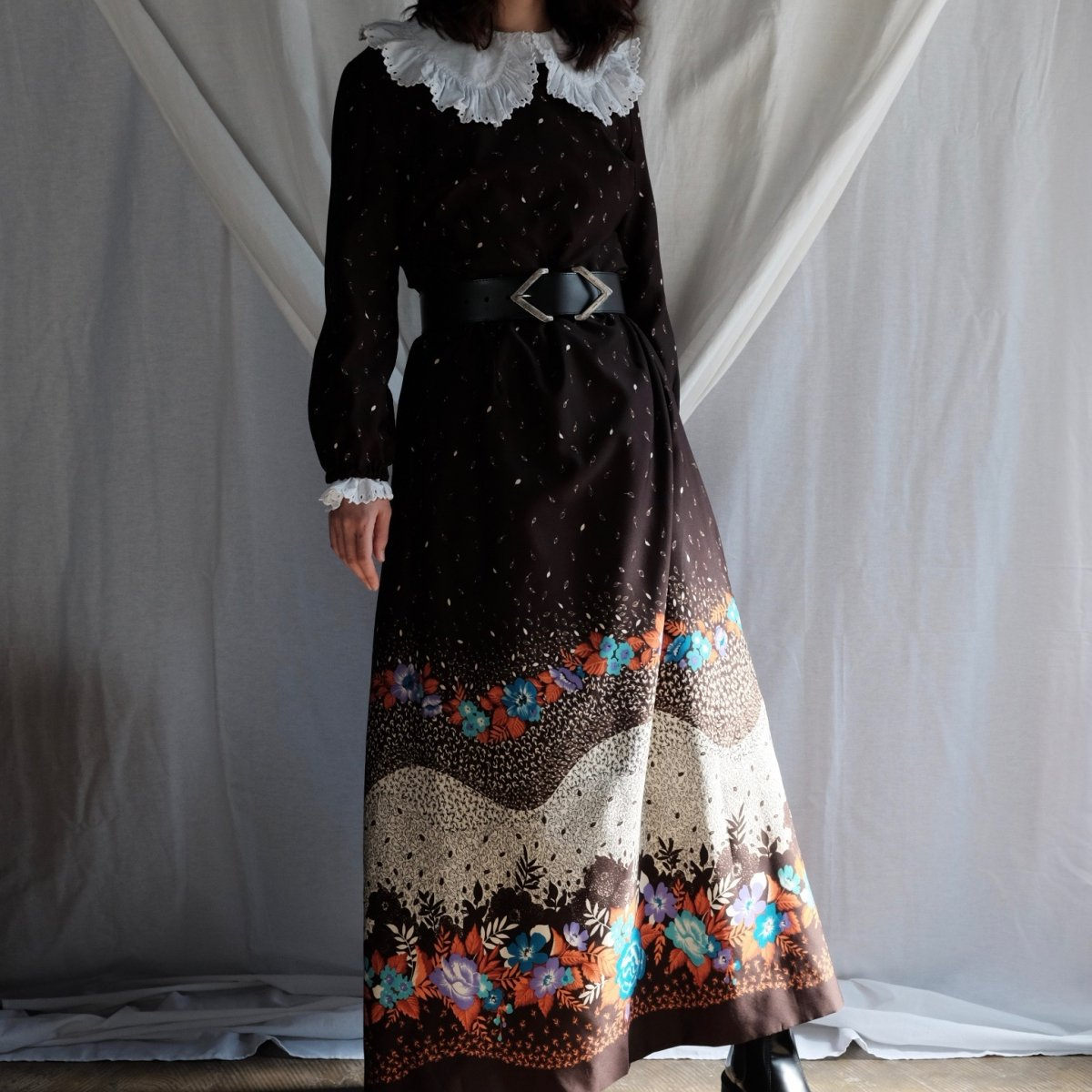 [VINTAGE] Autumn Forest Maxi Dress