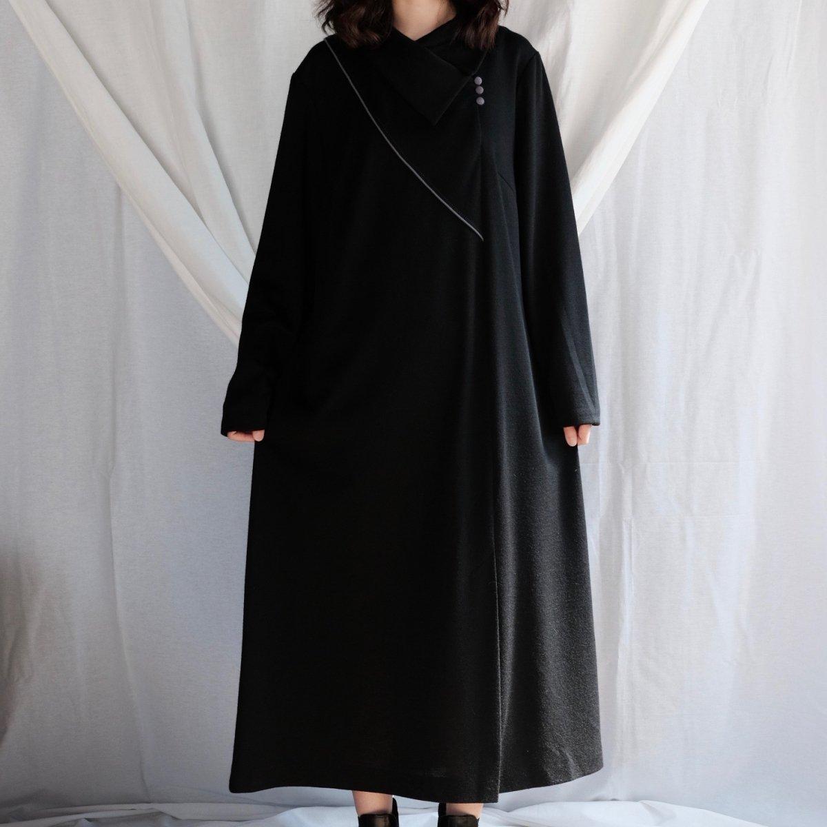 [VINTAGE] Dusty Violet Accent Black Dress
