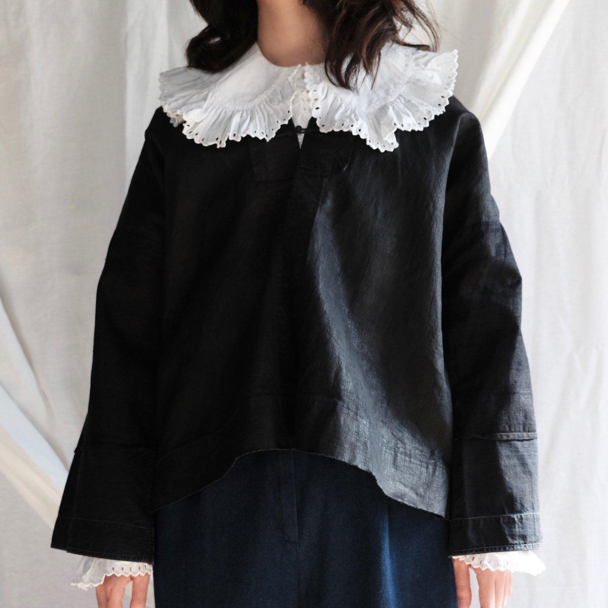 [VINTAGE] Miao Traditional Black Indigo Jacket by Boinu
