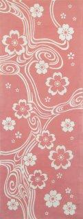 流水に桜(ピンク)
