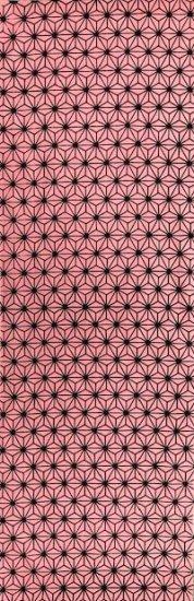 麻の葉 二度染(黒×ピンク)