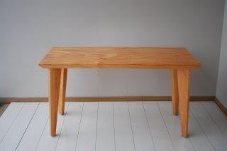 ケヤキ一枚板リビングテーブル   【C-0457】W1180×D504×H647〜569