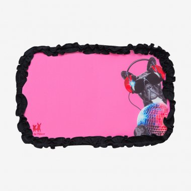 【Inu to Town オリジナル クールカフェマット 2017】 DJドッグ -S-