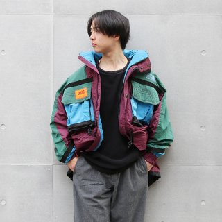 <img class='new_mark_img1' src='https://img.shop-pro.jp/img/new/icons5.gif' style='border:none;display:inline;margin:0px;padding:0px;width:auto;' />1990s The North Face/TNF Skiwear Jacket_Maroon×Green×Lt.Blue,Used【実寸XL】