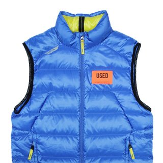 <img class='new_mark_img1' src='https://img.shop-pro.jp/img/new/icons5.gif' style='border:none;display:inline;margin:0px;padding:0px;width:auto;' />2000s RLX/Down Vest_Blue,Used【M】