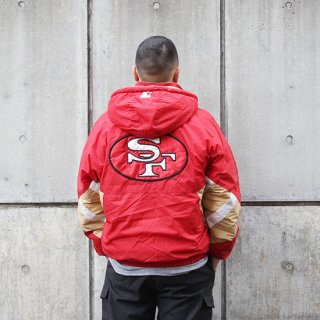 <img class='new_mark_img1' src='https://img.shop-pro.jp/img/new/icons5.gif' style='border:none;display:inline;margin:0px;padding:0px;width:auto;' />1990s Starter/Insulated Hooded Jacket S.F 49ers_Red,Used【L】