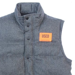 <img class='new_mark_img1' src='https://img.shop-pro.jp/img/new/icons5.gif' style='border:none;display:inline;margin:0px;padding:0px;width:auto;' />2000s Old Navy/Wool Puff Vest_Grey,Used【M】