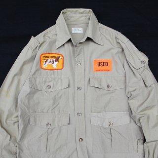 <img class='new_mark_img1' src='https://img.shop-pro.jp/img/new/icons5.gif' style='border:none;display:inline;margin:0px;padding:0px;width:auto;' />1970s L.L.Bean/Safari Shirt_Khaki,Used【実寸M】