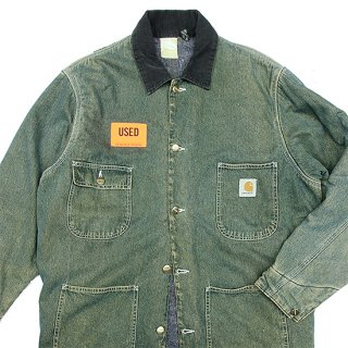 <img class='new_mark_img1' src='https://img.shop-pro.jp/img/new/icons5.gif' style='border:none;display:inline;margin:0px;padding:0px;width:auto;' />1990s Carhartt/Blanket Lined Washed Denim Chore Coat_Made in USA,Used【US 40/US M】