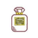 ゼブラの香水瓶