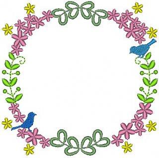 花と鳥のフレーム