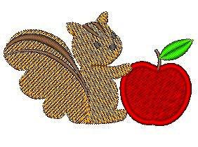 ちびリス(りんご)のセット