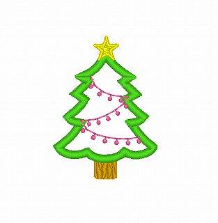 ☆クリスマスモチーフ☆ツリーのアップリケ