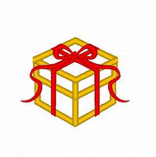 ☆クリスマスモチーフ☆プレゼントのアップリケ