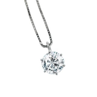 プラチナ1粒ダイヤモンドネックレス 1.0ct(JUD-2-01)(D-01)