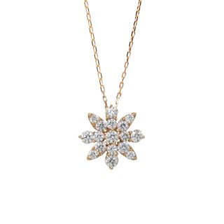 FLOWER ダイヤモンドネックレス PG(JUD-4-01)