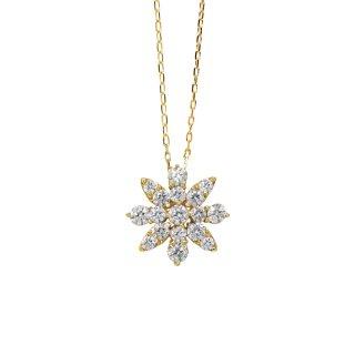 FLOWER ダイヤモンドネックレス YG(JUD-4-03)