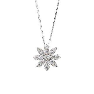 FLOWER ダイヤモンドネックレス WG(JUD-4-02)