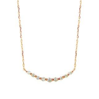 9石ダイヤモンドネックレス PG(JUD-5-01)