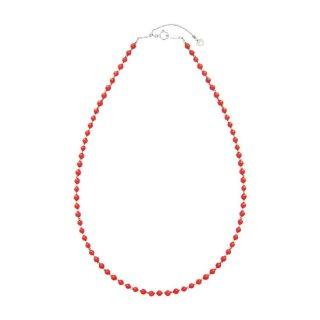 K18WG赤珊瑚ネックレス
