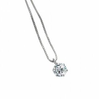プラチナ1粒ダイヤモンドネックレス 0.25ct(D-01)