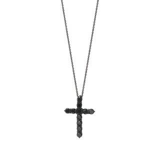 04|K18WG ブラックダイヤネックレス