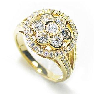 K18YG ダイヤモンドリング