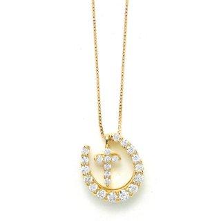 K18YG ダイヤモンドネックレス
