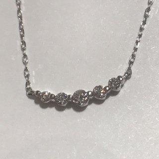 ダイヤ5連石ネックレス(グレーティングカード付き)