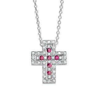 DAMIANI ベルエポック ダイヤモンドとルビーのネックレス XXSサイズ