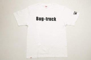 Bug-truck ティーシャツ フロントプリント【ホワイトブラック】