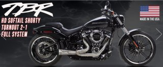 2018- HD SOFTAIL M8 2-1 Shorty Turnout Exhaust